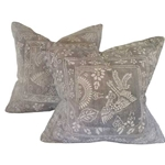 Pair Chinese Batik Pillows