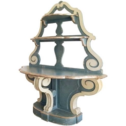Neoclassical Polychrome Etagere