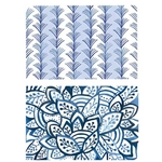 Blue and White Paper Placemats