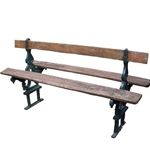 French Double Sided Garden Bench
