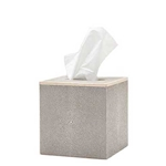 Faux Shagreen Tissue Box