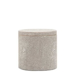 Faux Shagreen Canister