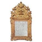 French LXVI Gilt Mirror