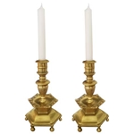 Swedish Bronze Candlesticks