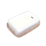 Bleached Rattan Soap Tray