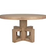 Bleached Walnut Pedestal Table