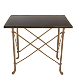 Brass Directoire Table