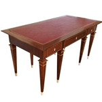 French Mahogany Inlay Desk