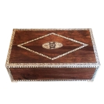 Large Teak Inlay Box
