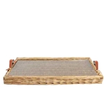 Rectangular Wicker Tray; Lg.
