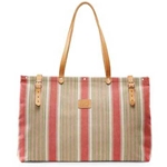 Watermelon Stripe Canvas Bag