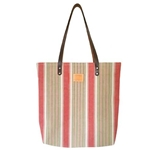 Watermelon Stripe Canvas Tote