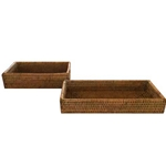 Rattan Bathroom Tray