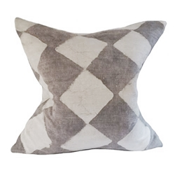Gray Batik Pillow