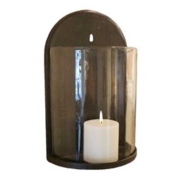Rusticated Candle Sconce
