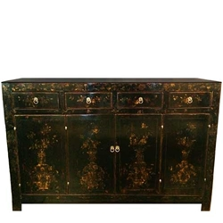 Chinese Ebonized Sideboard