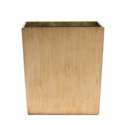 Gold Leaf Wastebasket