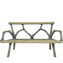 French Faux Bois Benches