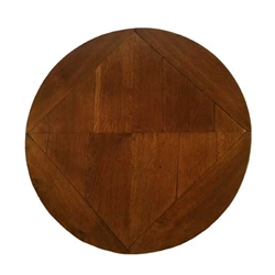 Oak Low Round Table