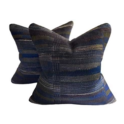 Midnight Stripe Pillow