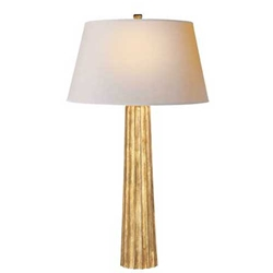 Gilt Fluted Spire Lamp