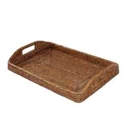 Rattan Morning Tray; Lg.