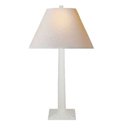 White Fluted Lamp
