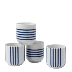 Japanese Blue Striped Teacups