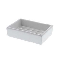 White Peg Soap Dish